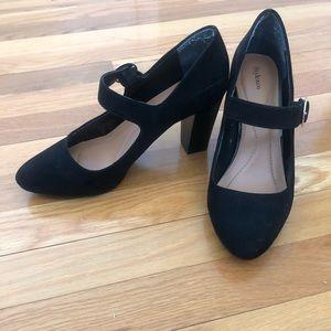 Style & Co. Black Mary Jane Block Heels